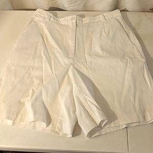White Liz Golf shorts